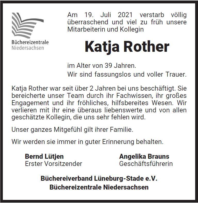 Nachruf Katja Rother